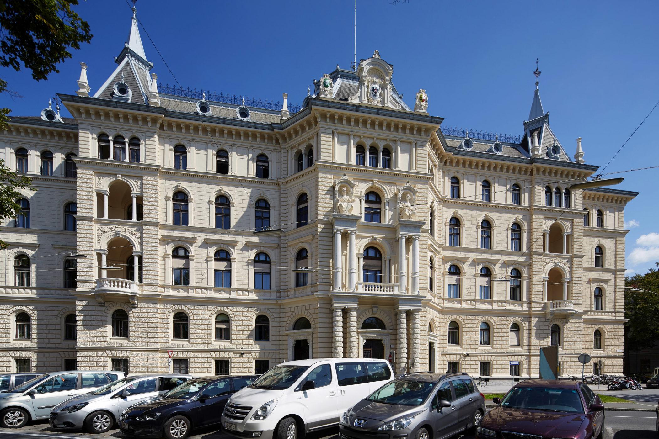 Pongratz Bau, Landesgericht Graz, Gebäude, Architekturfoto