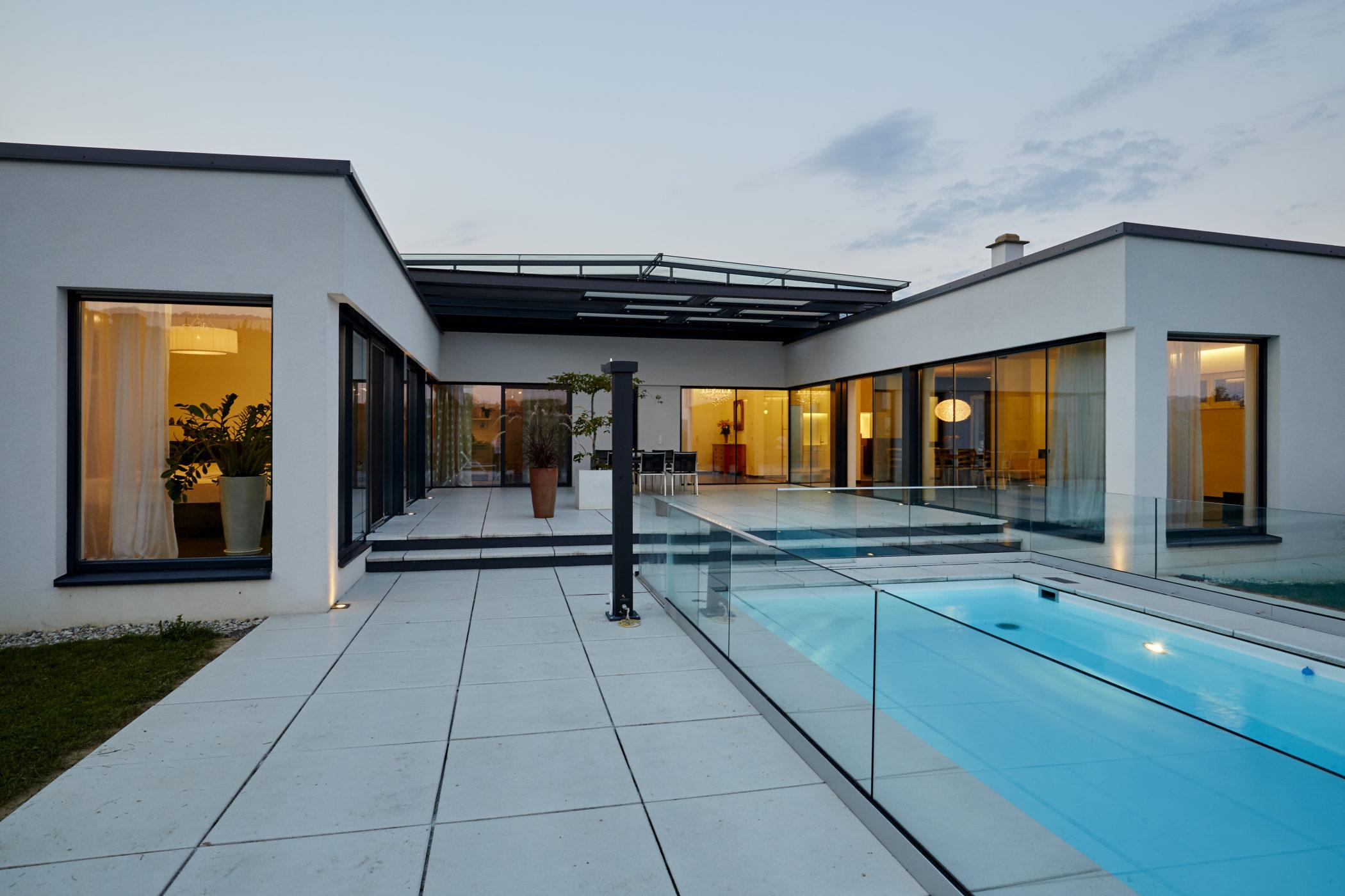 Gebäude, Architektur, Atrium, Schwimmbad