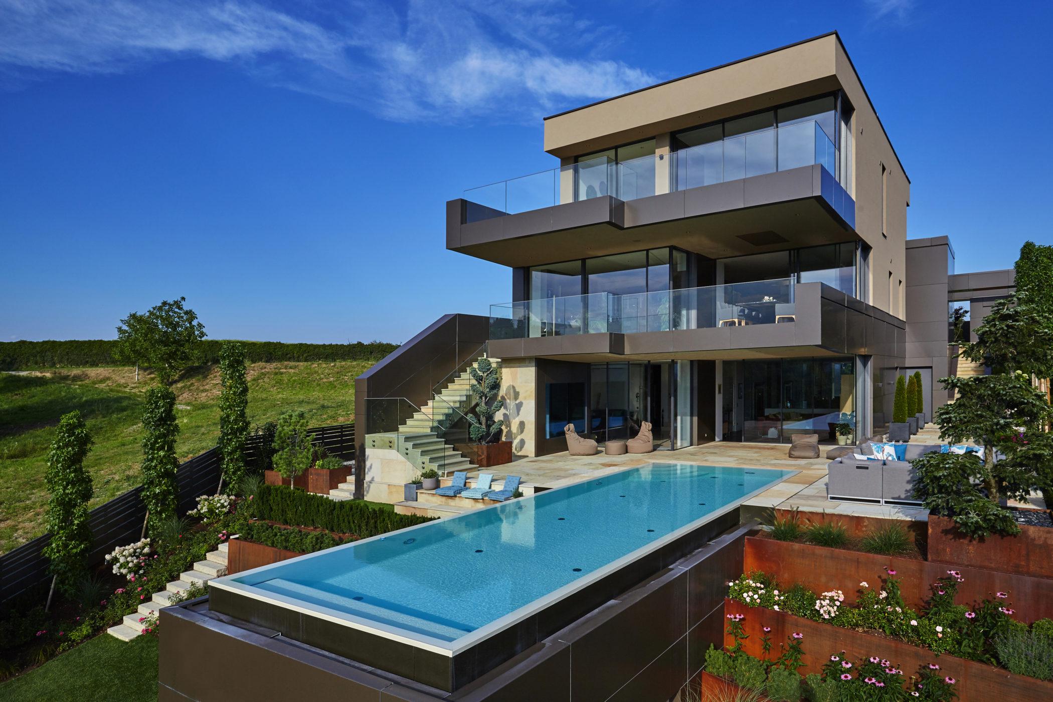 Haus, Architektur, Schwimmbad,